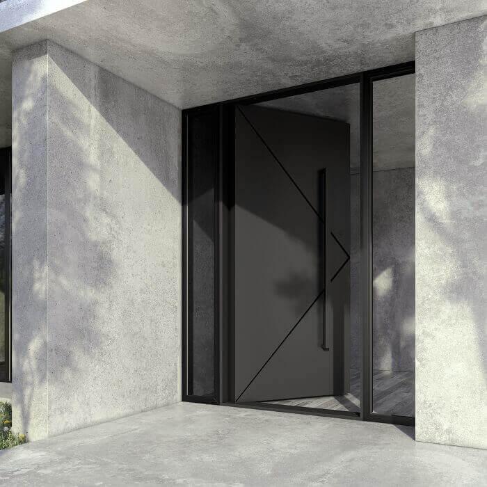 Модерна и сигурна блиндирана входна врата